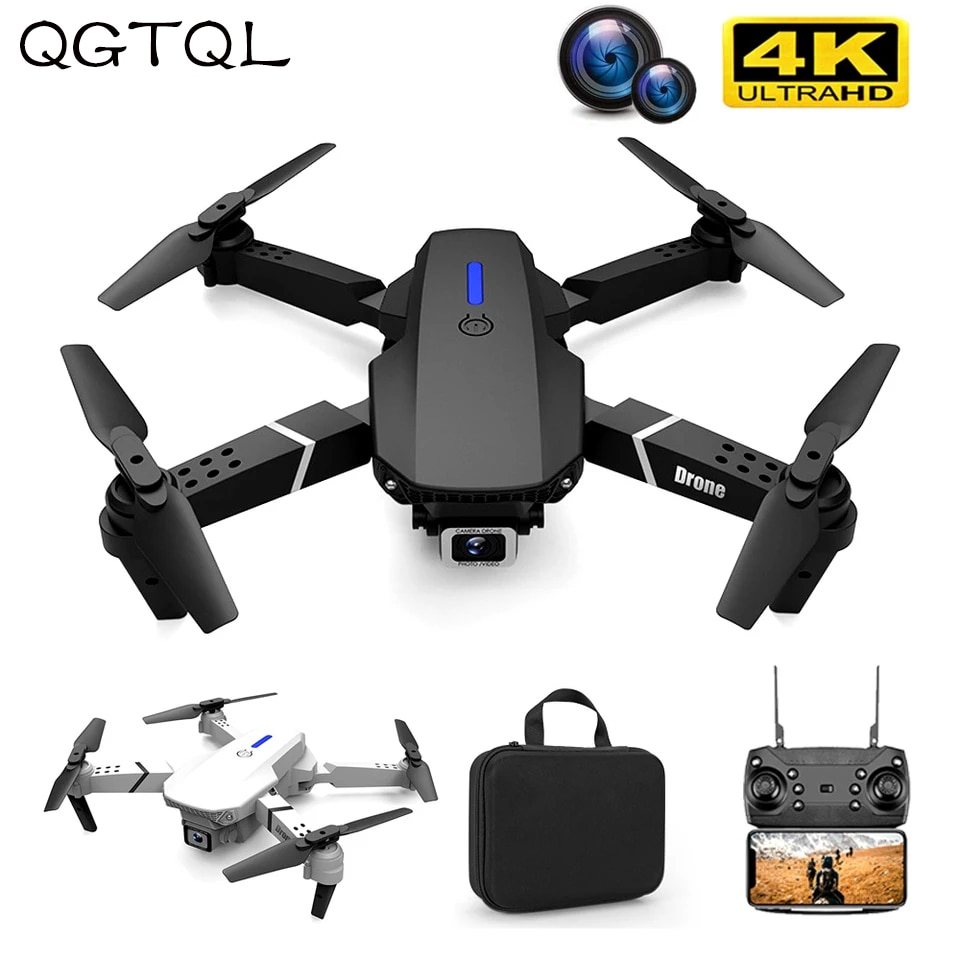 E88 Professional Mini WIFI HD 4k Drone With Camera Hight Hold Mode Foldable RC Plane Helicopter Pro