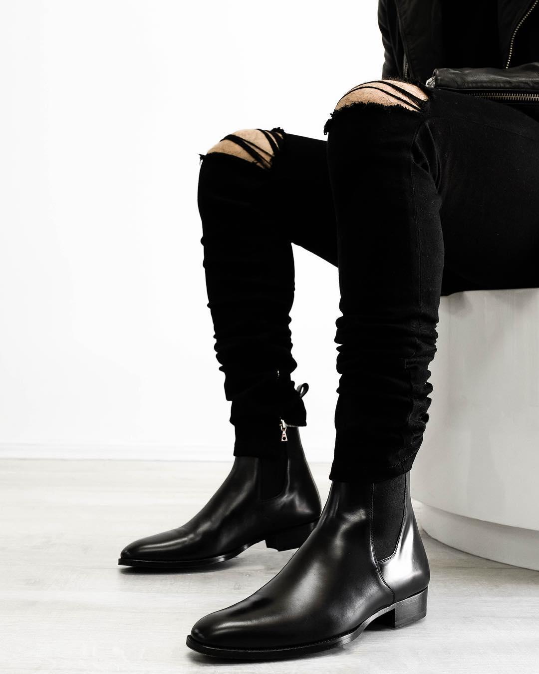 Botas De cuero sintético para Hombre, botines De vaquero a la moda,...