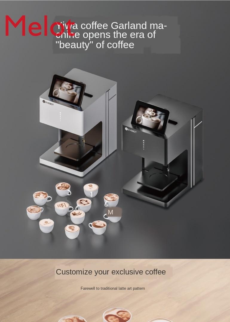 3D Coffee Garland Machine Hops Print Answer Milk Tea Divination Automatic Generator Milk Foam Milk Cover Cake Point Personality enlarge