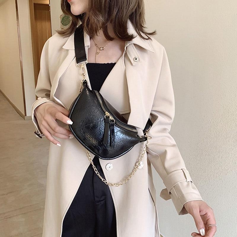 Square Women's Shoulder Bag Chest Bags PU leather Luxury Crossbody Bag Handbag New Designer Women Bags Mobile coin purse Bolsa