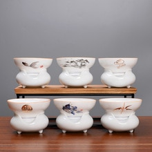 Infuseurs de thé en porcelaine blanche   Outil de thé peint à la main, filtre à thé céramique service à thé, accessoires chinois, passoire à thé, fuite