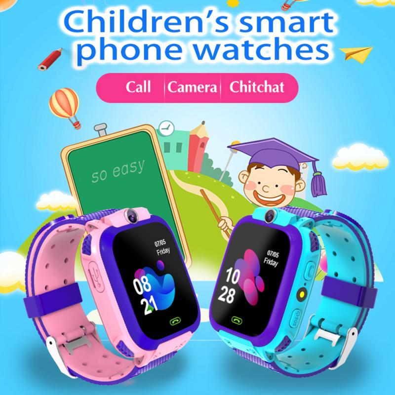 2020 New Kids Smart Watch GPS Tracker Sports GPS WiFi LBS Positioning Anti Lost SOS Call Camera Children Watches Q12 Smart watch