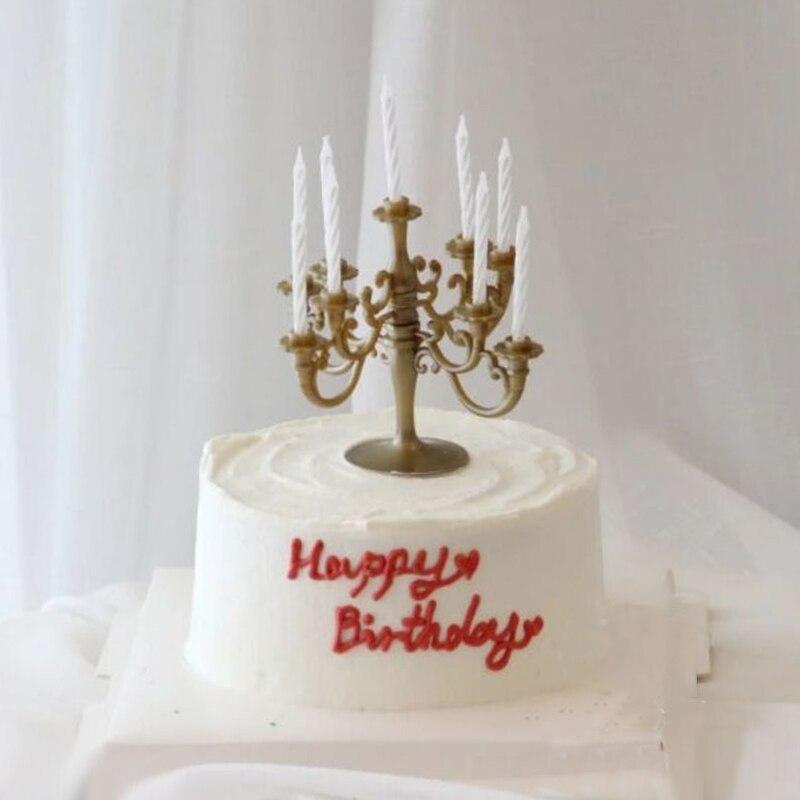 Cakelove 1 шт Ins торт Топпер пластиковый Золотой и Серебряный цветок подсвечник пирог на день рождения или свадьбу Украшение торта инструменты