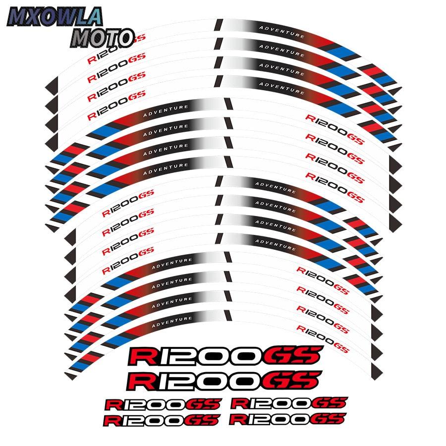 motorcycles wheel stickers Reflective Rim moto Stripe Tape For R1200GS ADVENTURE 19''17'' for suzuki gsf650 gsf650s gsf1000 gsr 600 750 1000 gsr600 colorful motorcycles wheel stickers reflective rim moto stripe tape
