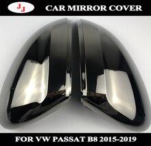 Capuchons de protection de rétroviseur noir   En acier au tungstène pour rétroviseur noir VW Passat B8 15-19 cc 2019 avec support sans voie