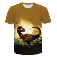 2021 summer dinosaur t shirt fashionable childrens jurassic park top cartoon jurassic childrens casual and beautiful clothes