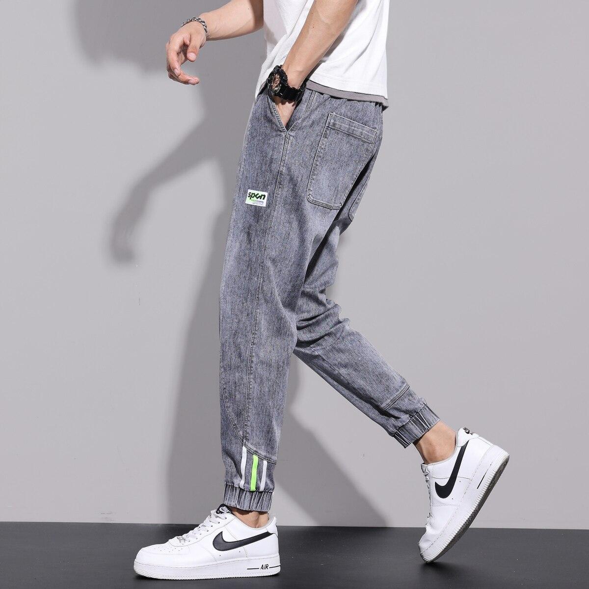 Trendy Brand Autumn New Jeans Men's Trendy Loose Large Size Ankle-Length Men's Pants Overalls Harem Trousers jeans