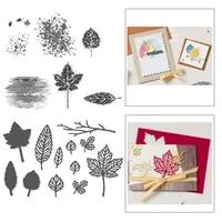 maple leaf metal cutting dies 2021 clear stamps and dies new arrival christmas die cut stencils new dies cutters scrapbooking