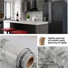 Granite Look Marble Gloss Film Vinyl Self Adhesive Counter Top Peel and Stick Wall Decal Waterproof Self-Adhesive Wall Sticker