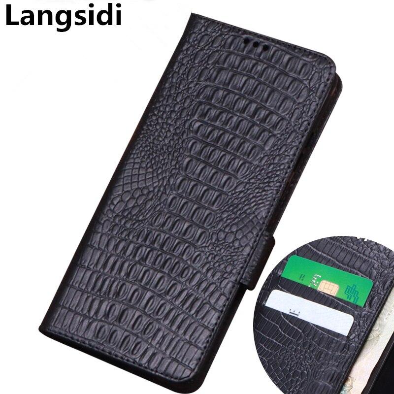 Funda de cuero genuino para teléfono de negocios con cartera para Asus Zenfone Max Pro M1 ZB602KL/Zenfone Max M1 ZB555KL con ranura para tarjeta