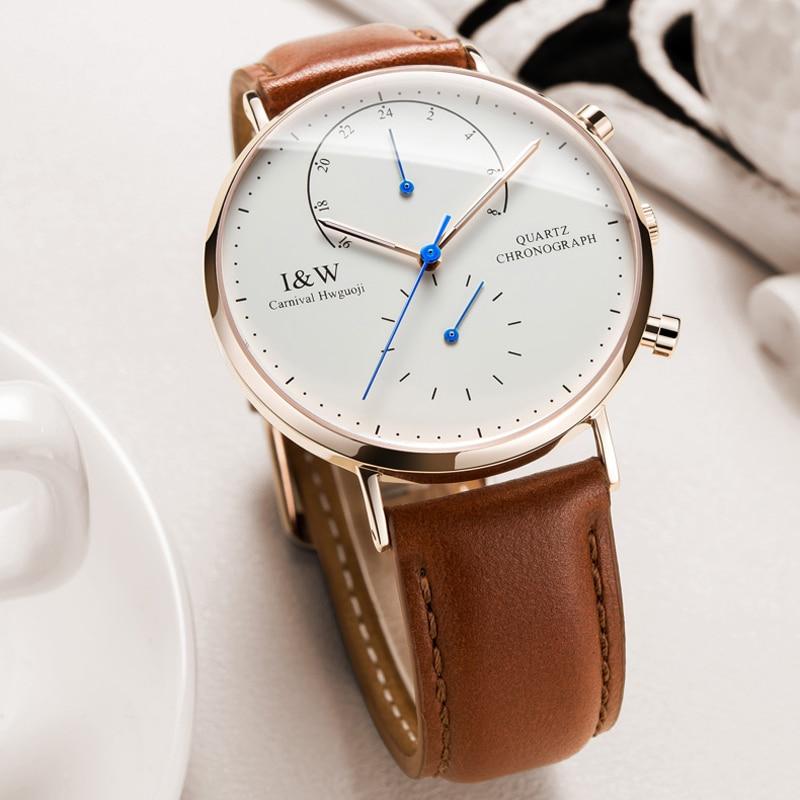 Carnival Brand Fashion Watch Men Luxury Chronograph Quartz Wristwatch Waterproof Luminous Ultra Thin Sapphire Relogio Masculino enlarge
