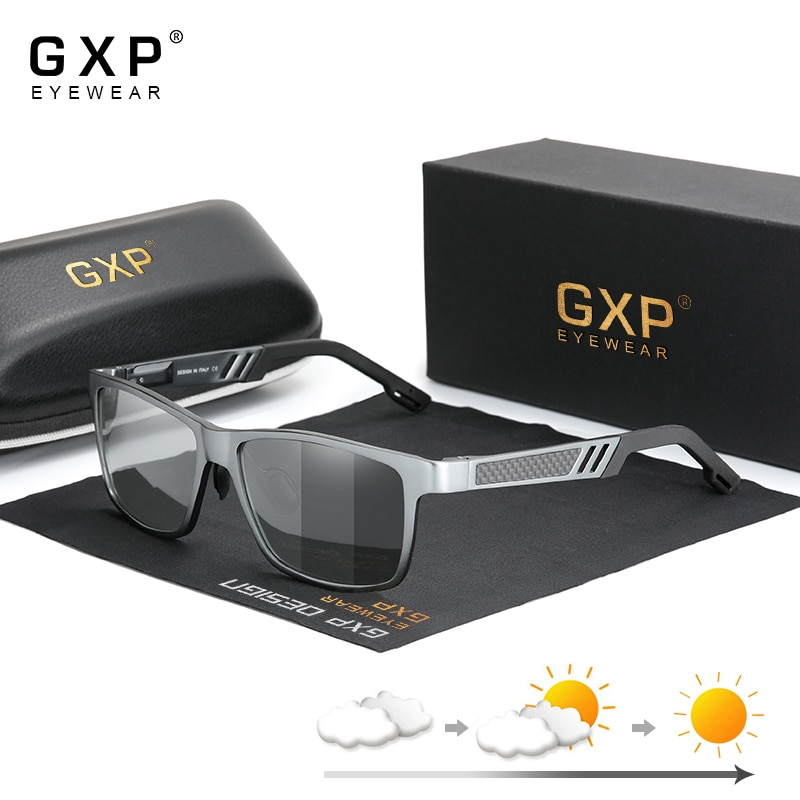 GXP Fashion Aluminum Polarized Sunglasses Goggles Anti-glare Driving Sun glasses Photochromic UV400