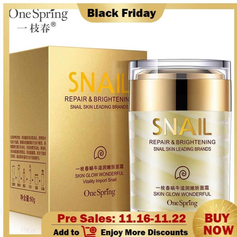 OneSpring Face Cream Whitening Snail Cream Aloe Vera Anti Aging Anti Wrinkle Nourishing Acne Treatment Moisturizing Repair Skin недорого