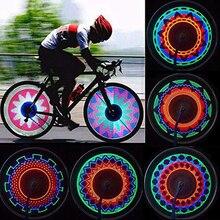 32 Pattern Bike Bicycle Wheel Traffic Light Double Display Flash Rgb Led Light Bicycle Spoke Lamp Night Riding Cycling Lighting