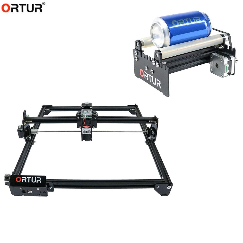 Módulo de grabado giratorio Ortur, grabador láser Y eje DIY, Kit Upgrde para grabado de cilindro de columna con 7/15W Ortur Laser Master 2