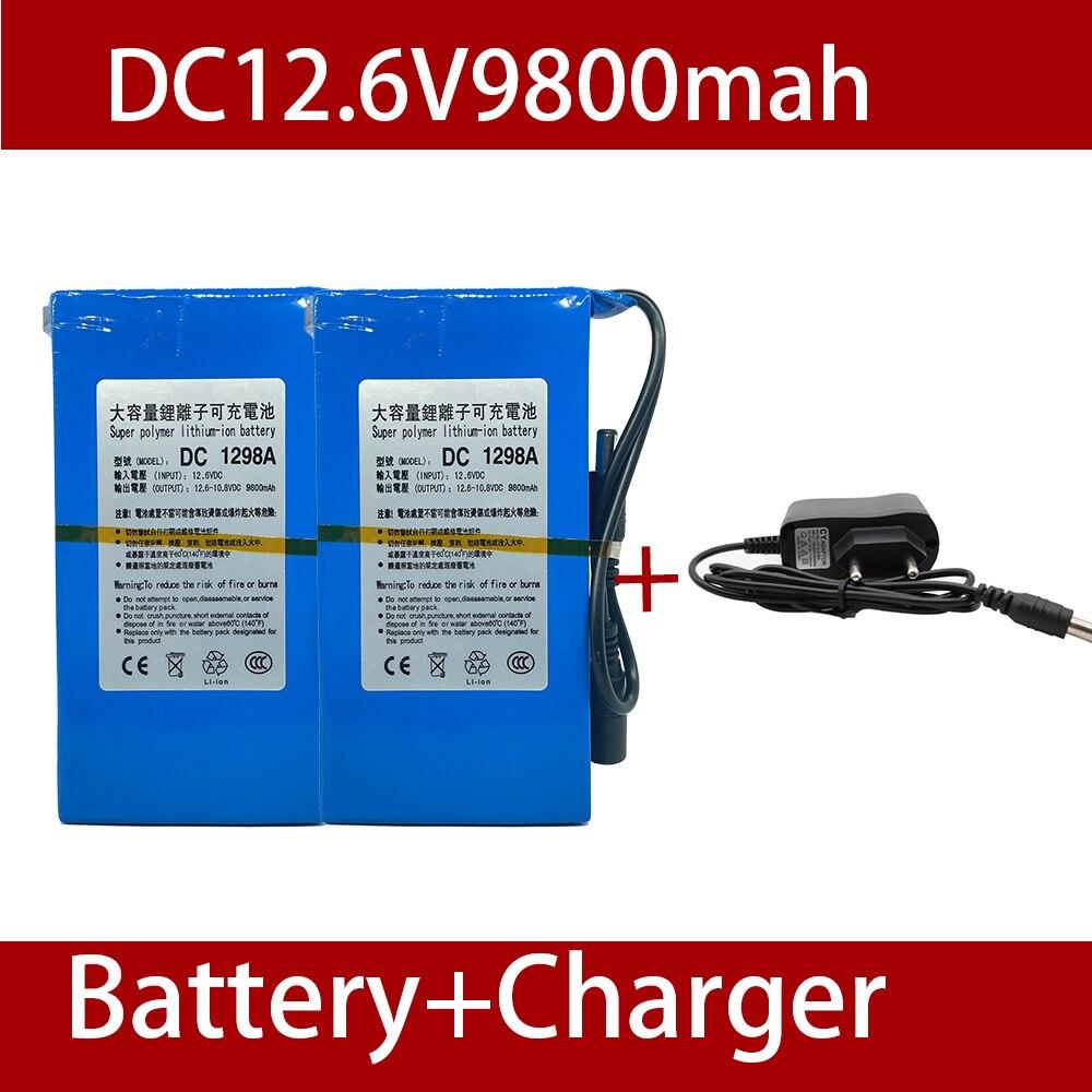 Batería de ion de litio de 12 V y 9800 MAH, 100%...