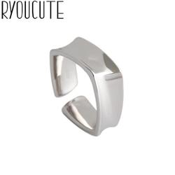 Venda quente charme aberto irregular quadrado anéis para as mulheres ajustável dedo anéis dia dos namorados presente jóias