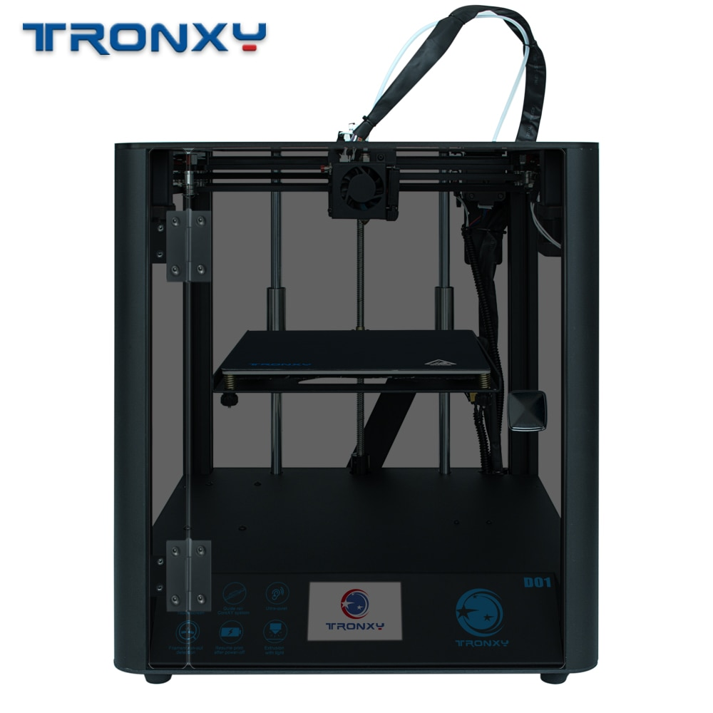 Tronxy impressora 3d d01 máquina industrial trilho de guia linear design silencioso titan extrusora de alta precisão impressão 3d impressão impressora 3d