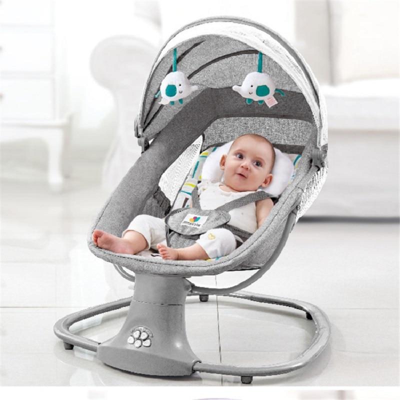 Baby Electric Rocking Chair Newborns Sleeping  Cradle Bed  Child comfort chair reclining chair  for baby 0-3 years old chbaby music rocking chair baby bed rocking children cradle