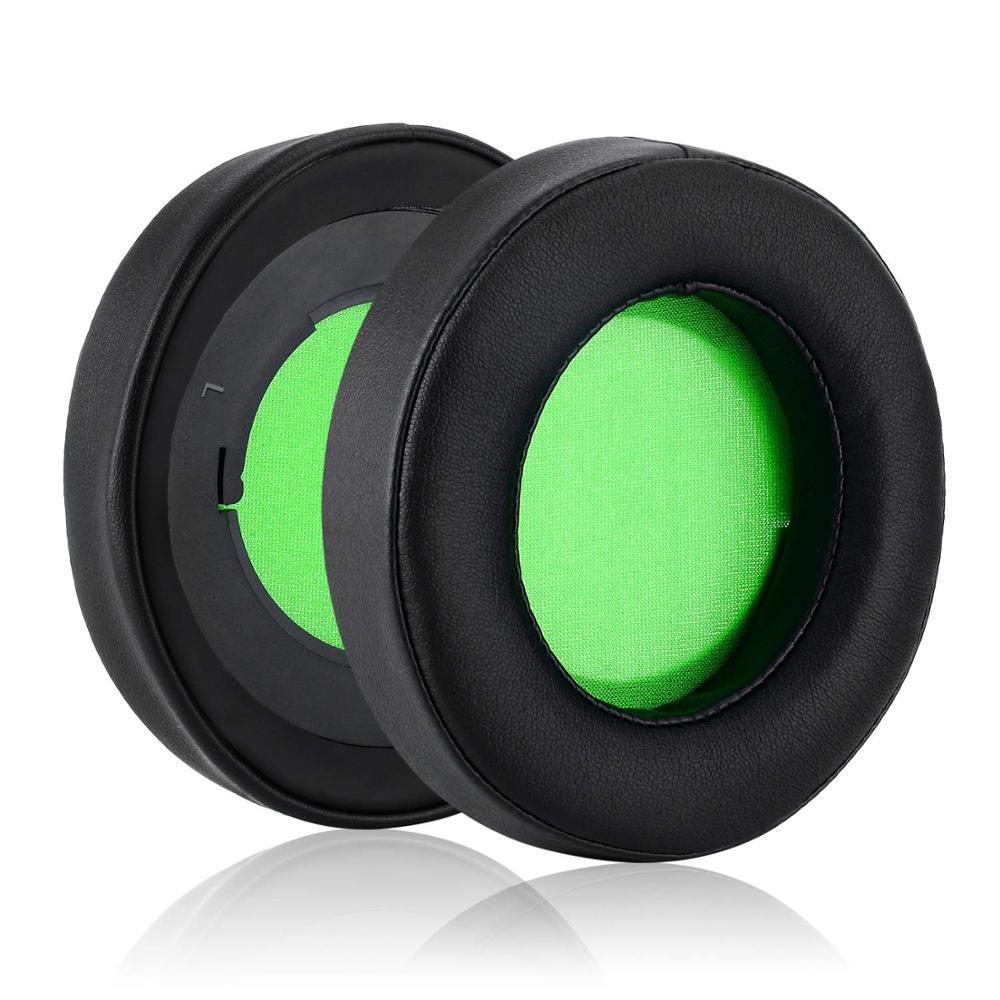 Almohadillas para auriculares Razer Kraken Pro V2 de repuesto de cuero proteico y espuma de memoria para juegos, auriculares ovalados, almohadones, auriculares Razer