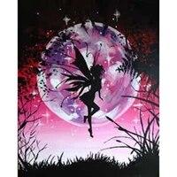 diamond embroidery diy diamond painting moon night butterfly fair diamond painting cross stitch rhinestone mosaic