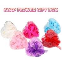 Pratique petits cadeaux en forme de coeur savon fleur boite cadeau creatif saint valentin cadeau mariage maison deco fleur cadeau de fete