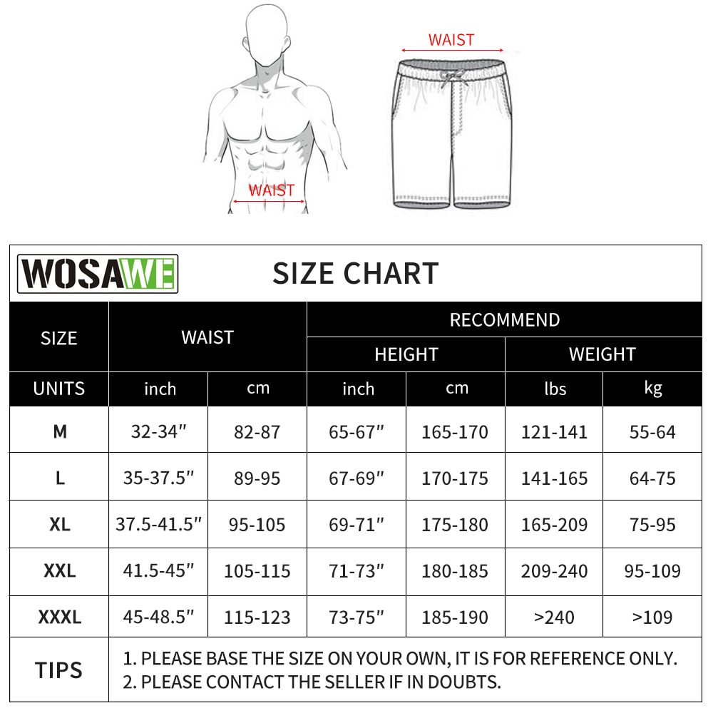 WOSAWE New Men's Motocross Pants Loose-fit MTB Enduro Motorcycle Shorts Breathable Casual Sports Riding Pockets Shorts enlarge
