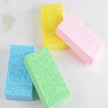 1pcs Bath Sponge Lace Printed Scrub Shower Bath  Scrubber Exfoliating   Skin Care Sponge Face Cleani