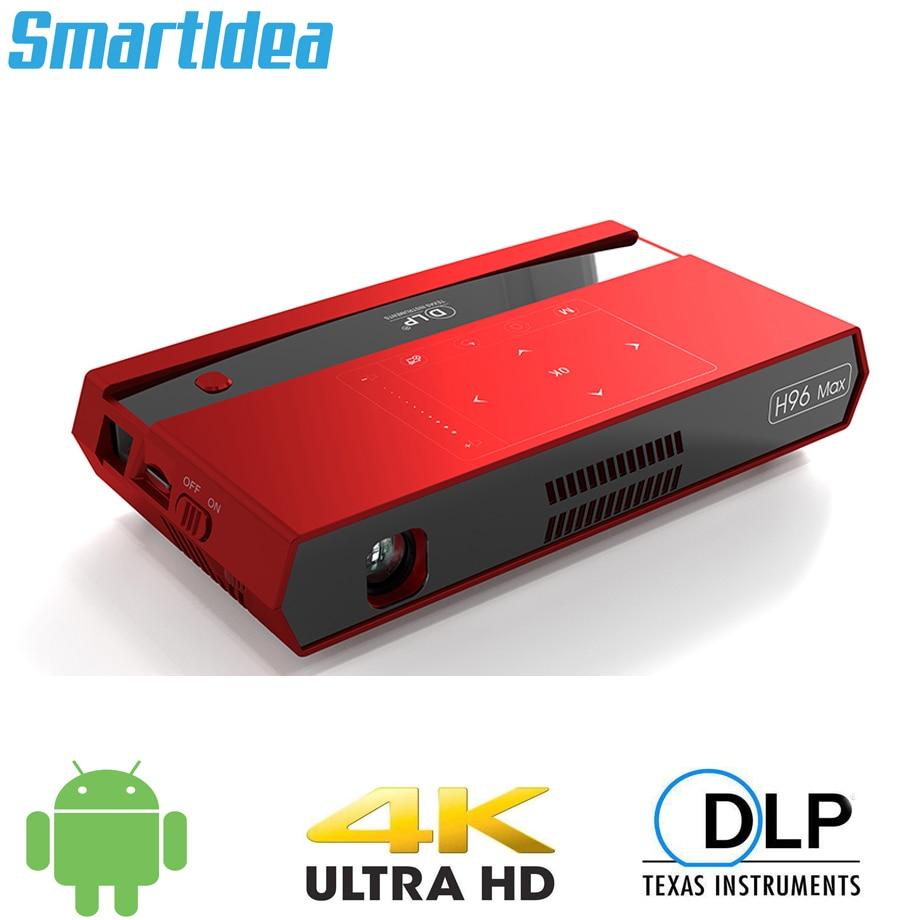Smartldea H96 max Mini HD proyector 4K android 6,0 dual 2,4G 5G...