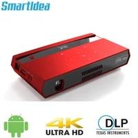 Smartldea     Mini projecteur H96 max HD 4K  android 6 0  double wifi 2 4G 5G  pour home cinema  jeu video  bluetooth 4 1