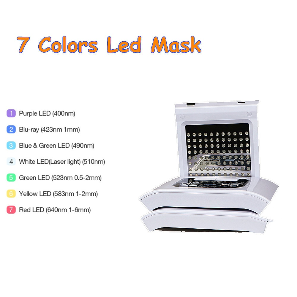 Professional 7 Colors PDT Led Mask Facial Light Therapy Skin Rejuvenation Device Spa Acne Remover An