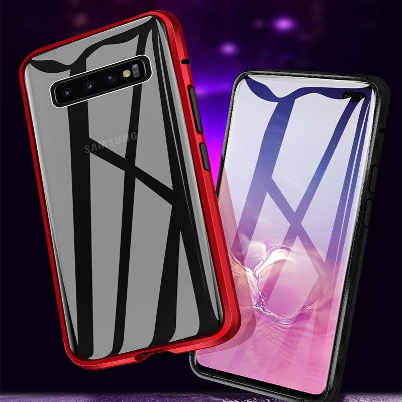 Metal magnético para Samsung Galaxy S10 S8 S9 más S10E cubierta del teléfono para A50 A80 A70 A10 A40 A30 A60 A20 M30S Nota 8 9 cubierta