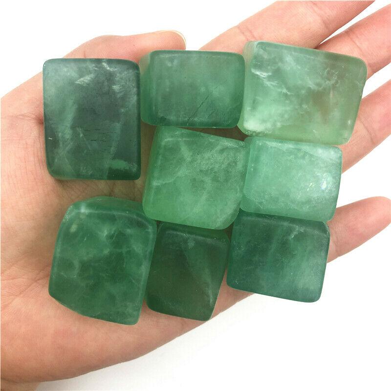 20-30mm natural verde fluorite cristal cubo pedras polido reiki cura crysys natural cristais de quartzo 100g