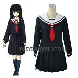 Anime Hell Girl Cosplay Costumes School Uniforms Halloween Party Jigoku Shoujo Women Cosplay Costume