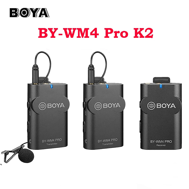 Review BOYA BY-WM4 Pro K6 K5 K4 K3 K2 K1 Wireless Microphone Lavalier mic Type-C Interface for Smartphone iPhone  Android