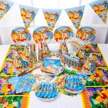 Children's birthday party supplies Winnie the Pooh cartoon theme set Baby birthday dress set supplie
