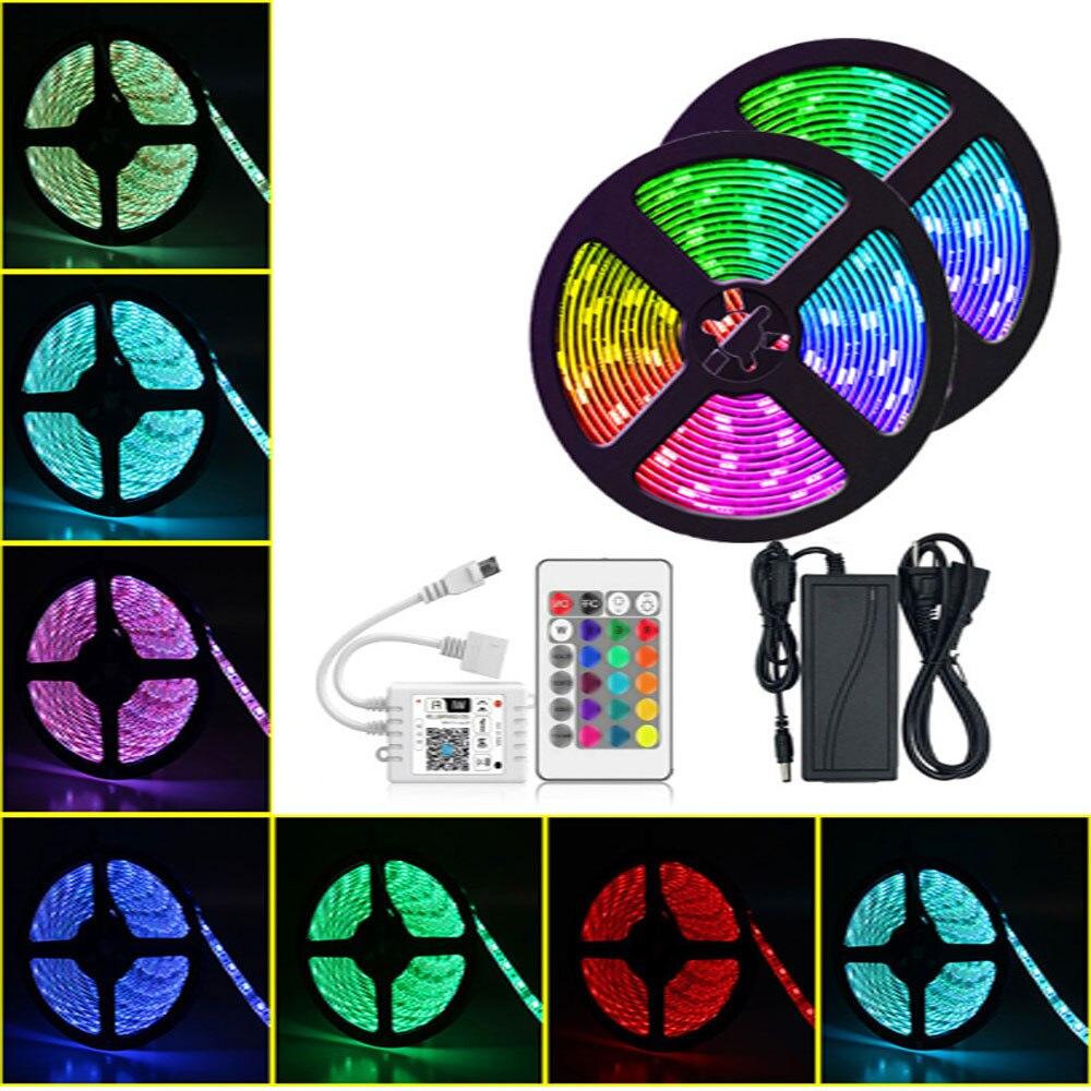 Tira de luces LED RGB inteligente con Wifi, cinta de diodos, Tira...