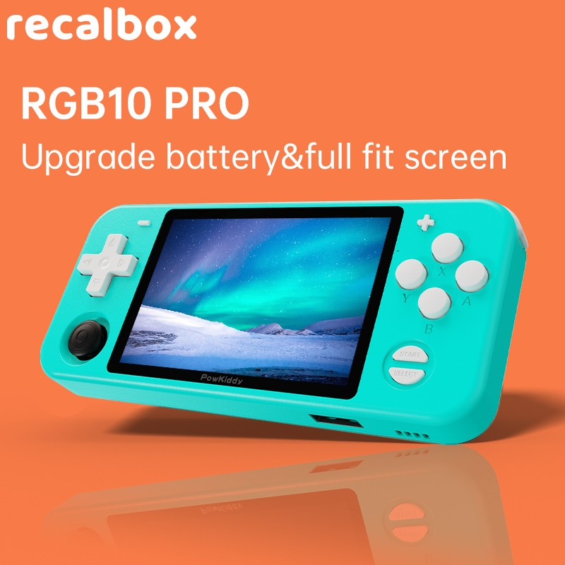 RGB10MAX  Retro Handheld Game Console For PSP N64 PS Game Player Double Joystick Open Source 3D Video MP4 Players