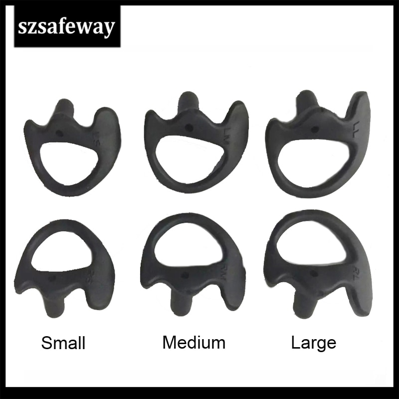 100PCS/LOT Black Silicone Earmolds Earbud For Baofeng Acoustic Air Tube Earpiece Walkie Talkie enlarge