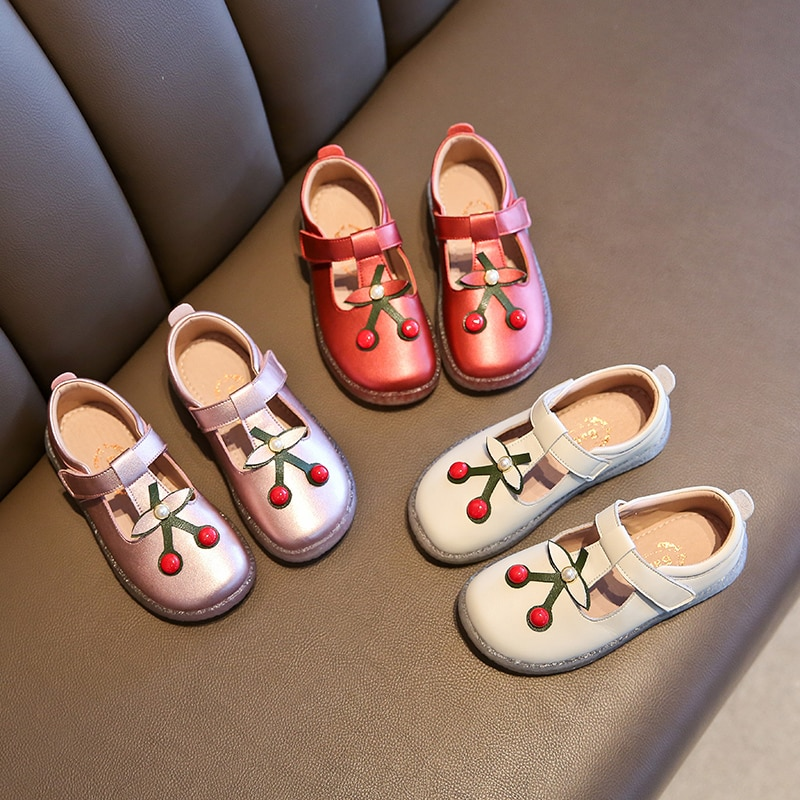 Autumn & Spring Single  Princess Shoes 4-12 years Girls' Leather Shoes Beans Shoes Girls' Soft Sole Shoes Leather Shoes enlarge