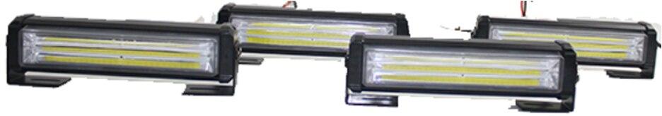 High Power 4 in 1 72w RED/BLUE Flashing Strobe LED Warning Light Strobe Caution Light Car Emergency Beacon Light Bar Plice Light