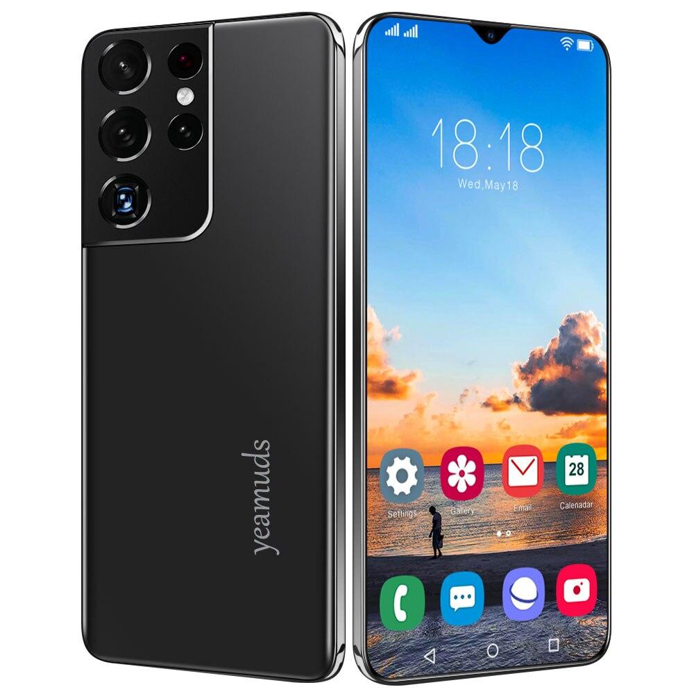 Global Version 6.7″HD S21 Ultra 4G/5G 8GB RAM 128GB ROM Android OS 11.0 Dual Sim Unlocked Mobile Phones Cell Phone Celular Smart