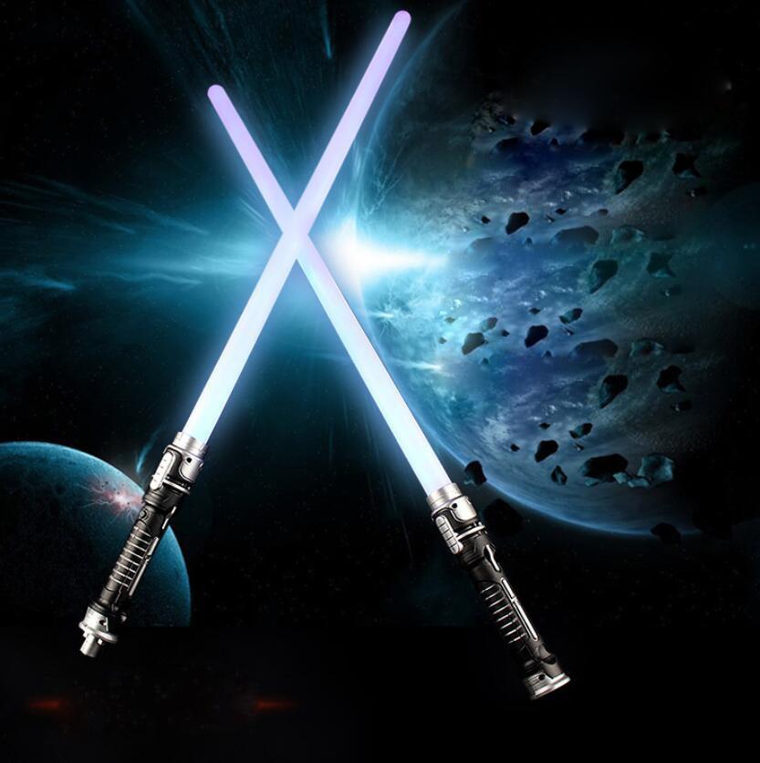 Estrella doble sable de Star Wars sable espada juguetes con sonido láser sable de luz Darth Vader Jedi Rey Luke Skywalker Yoda sable de Luz Juguetes