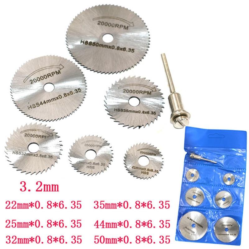 7 unids/set 30mm hoja de sierra de diamante corte de plata discos para Dremel broca para herramienta rotativa
