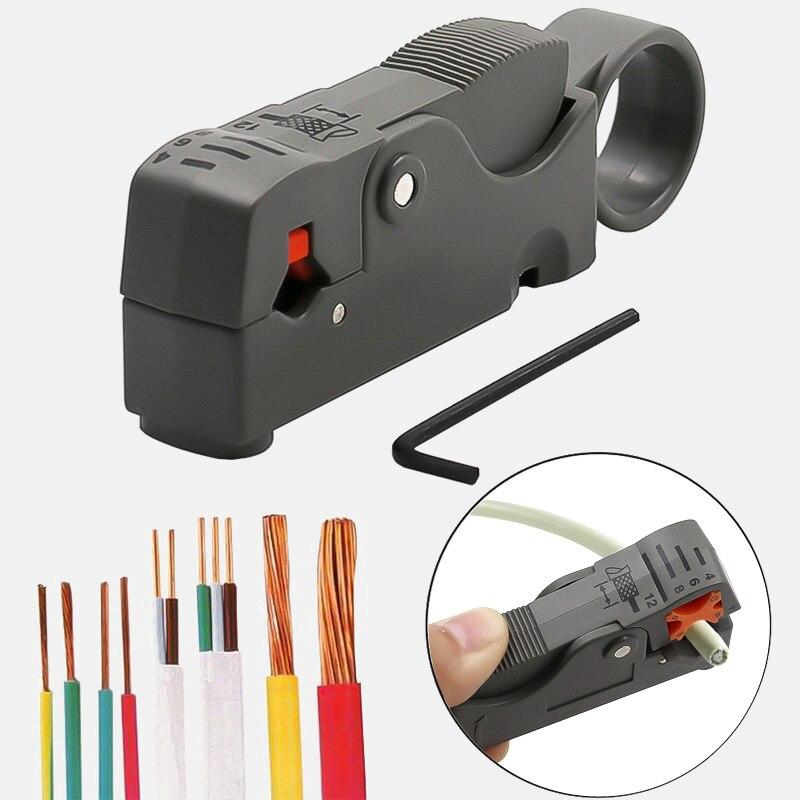 Pelador de cables multifuncional, pelador automático, pinzas para cables, herramientas de pelado, herramienta de prensado con llave hexagonal