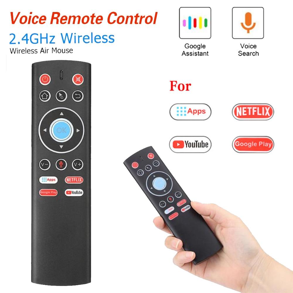 T1 Control remoto por voz 2,4G Air Mouse G10 giroscopio para Google Netflix, Youtube Tx6 T95 max h96 max X88 Pro A95X F2 Tv Box