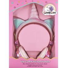 QMEOW Cute Box Unicorn Wired Headphone With Microphone Girl Daughter Music Stereo Earphone Computer