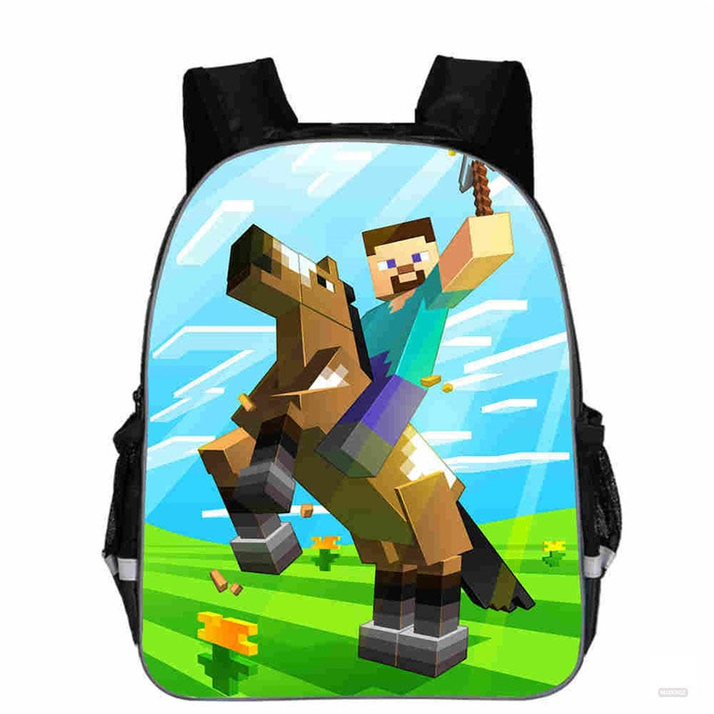 Mochila escolar de Anime de Minecrafting de 13 pulgadas, mochila escolar para niños, juego, mochilas escolares de dibujos animados, bolsas de libros para adolescentes
