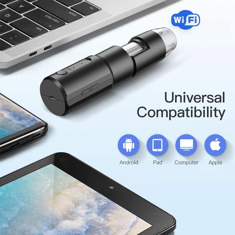 2020 neueste WIFI Drahtlose Tragbare 100 Mal Zoom Digital 50X -1000x Mikroskop Lupe Kamera Für Android IOS IPhone IPad