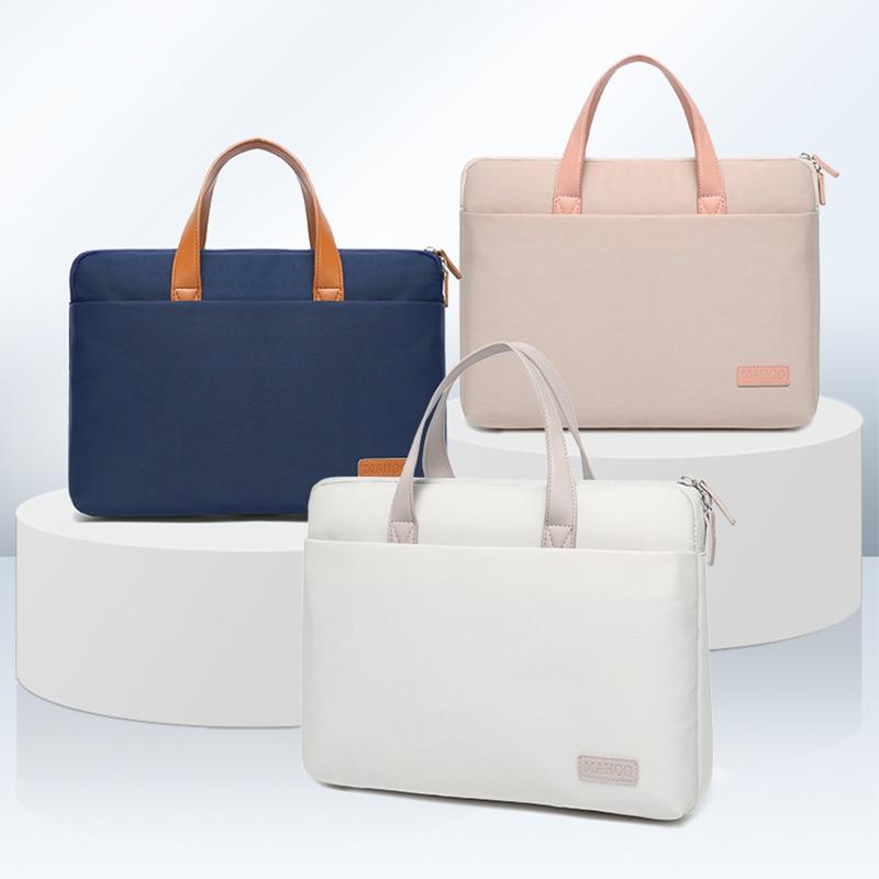 البساطة المرأة حقيبة كمبيوتر محمول لماك بوك 13.3 15.6 16 بوصة دفتر حقائب الكتف مقاوم للماء حقيبة كروسبودي Ladie حقائب اليد